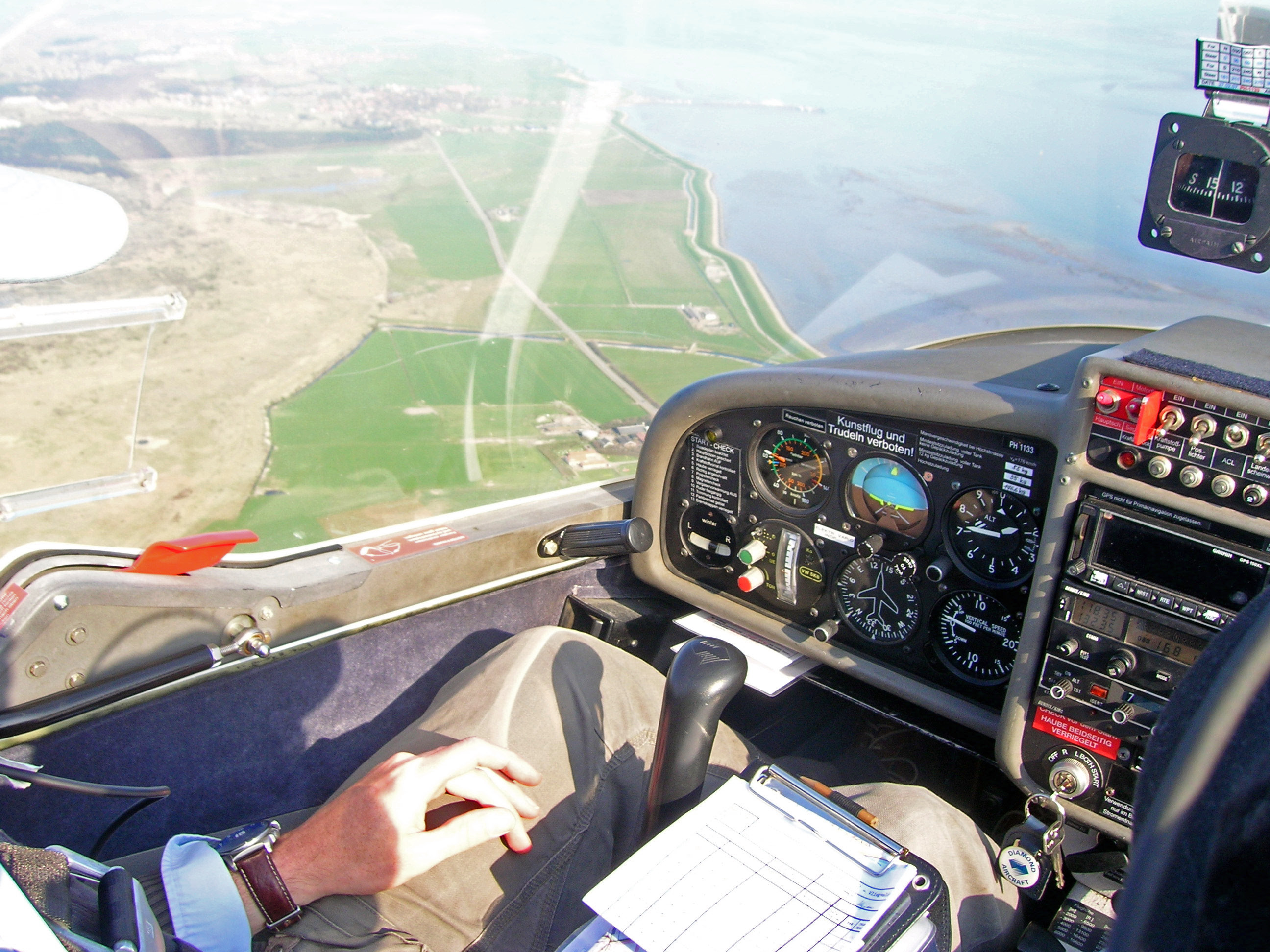 Ameland from cockpit
