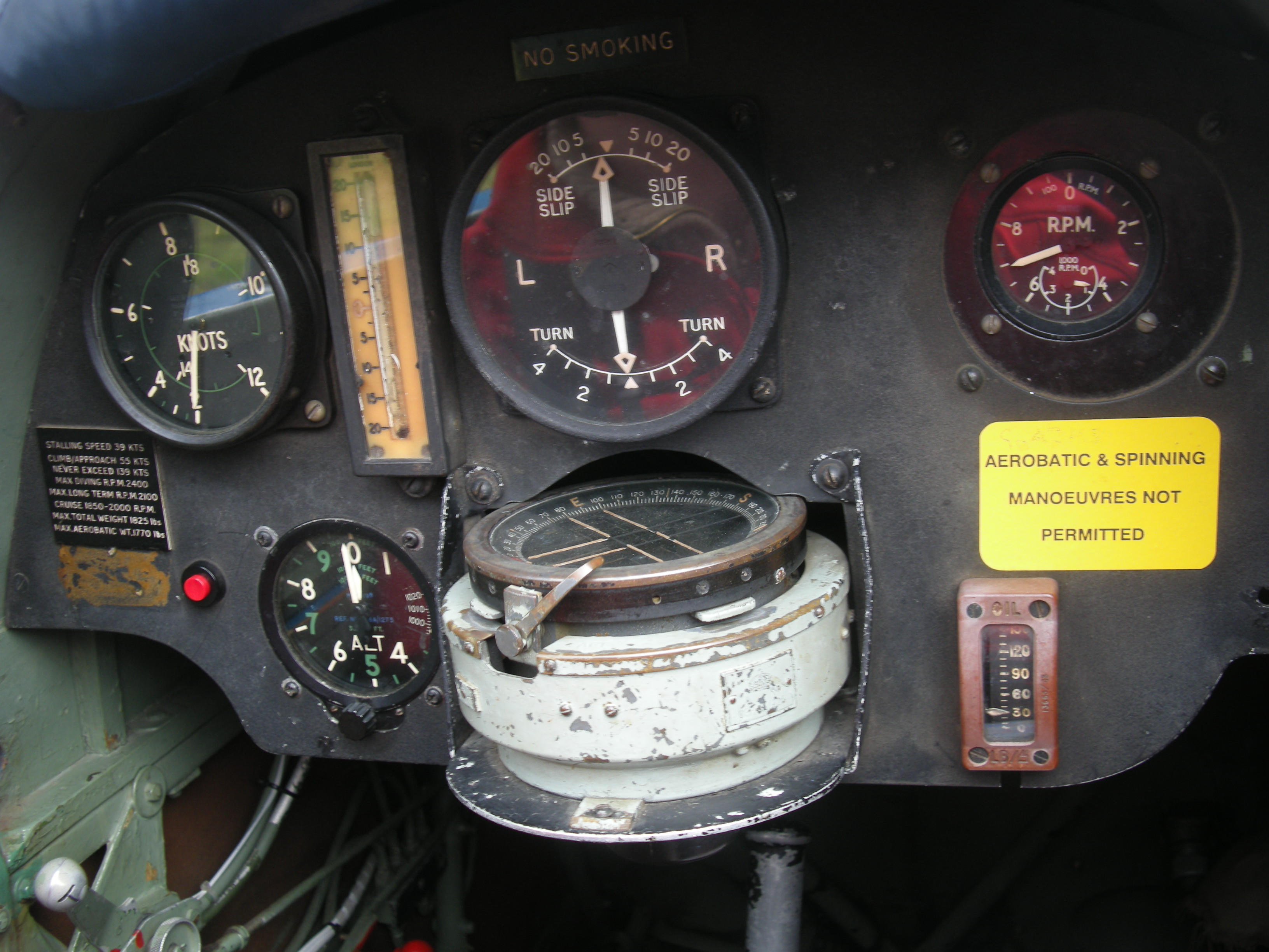 Tiger Moth cockpit 2