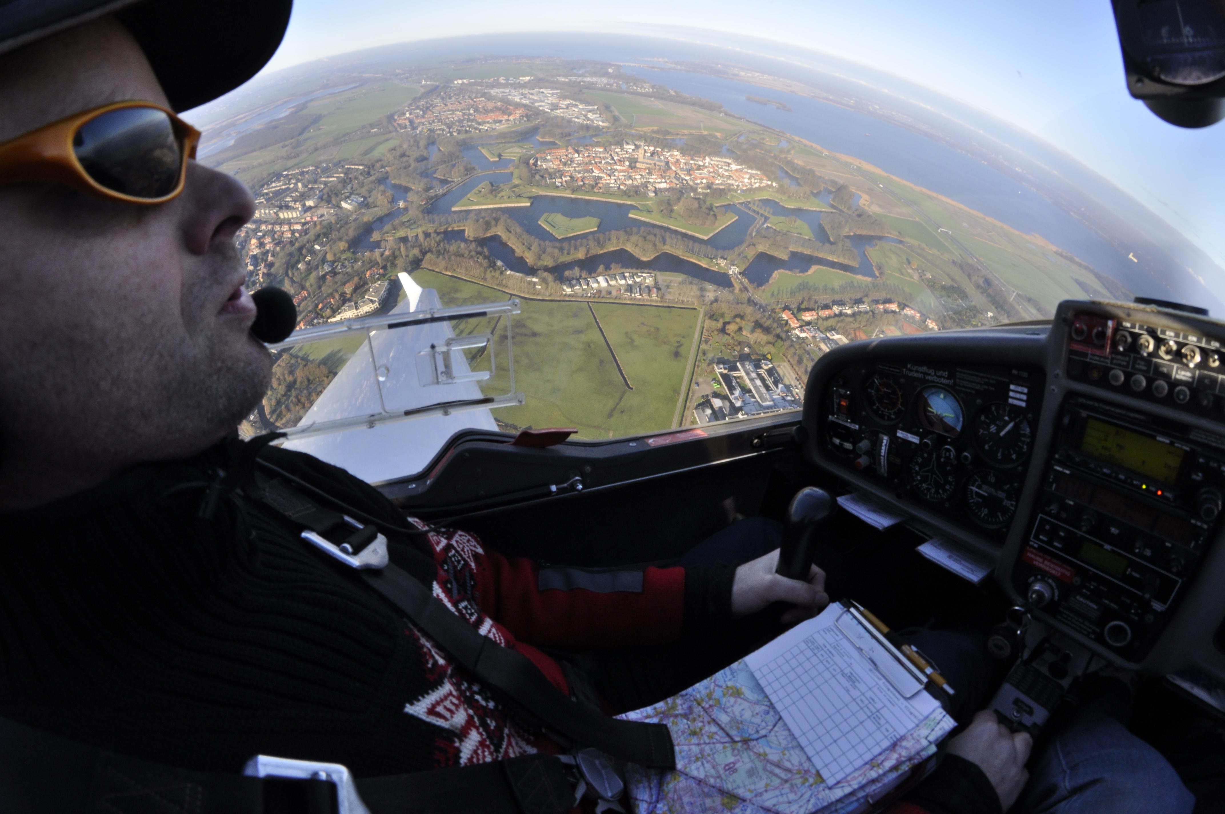 Naarden Vesting luchtfoto