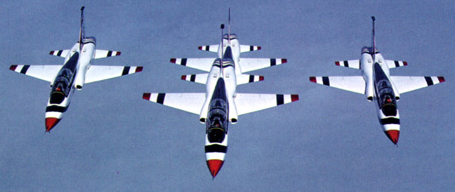 Thunderbirds with T38