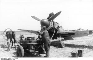 Russland, Messerschmitt Me 109, Betanken