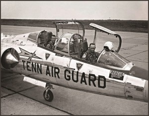 Bill checking out Gordon Cooper in the F-104