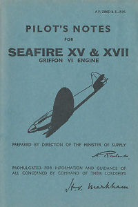 Pilots Notes for Seafire XV & XVII